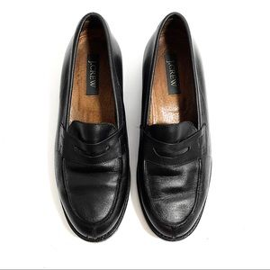 J. Crew Black Leather Loafers